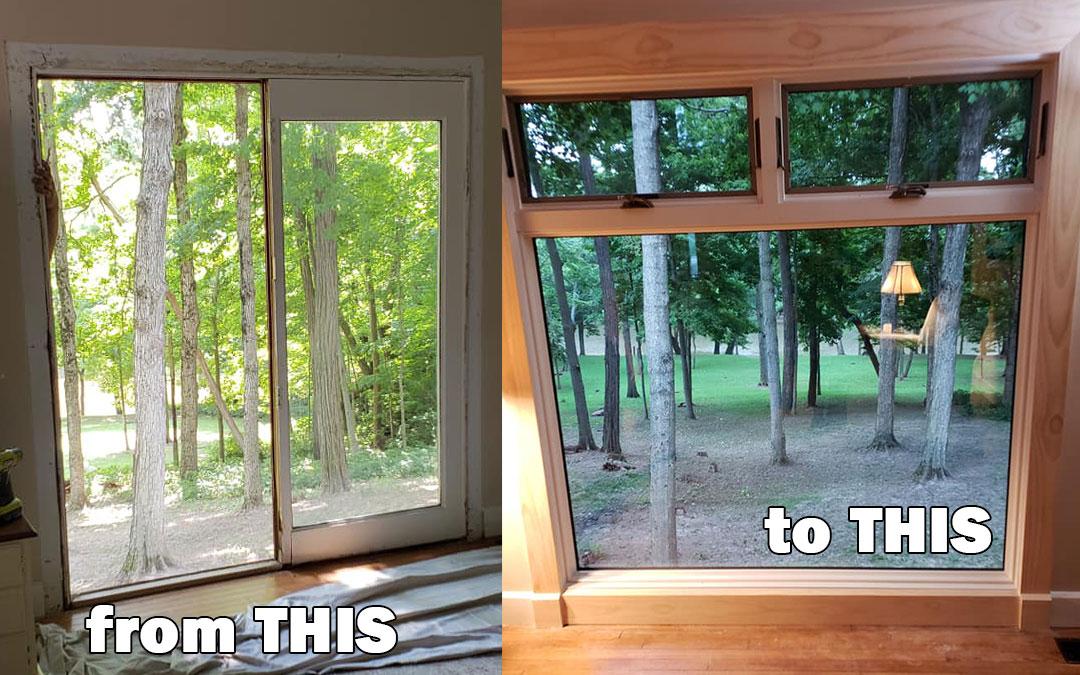 Andersen Project Showcase | Door to Window Conversion
